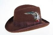 Fabric Felt Fedora brown
