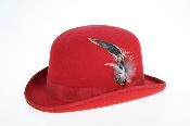 Fabric Felt Fedora red