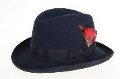 Fabric Felt Fedora Navy