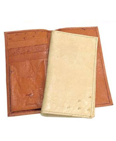 AA370 Ferrini Genuine Smooth Ostrich Wallet Colors: Buttercup Oryx