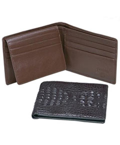 SVF70 Ferrini Genuine Hornback Crocodile Card Holder Wallet in