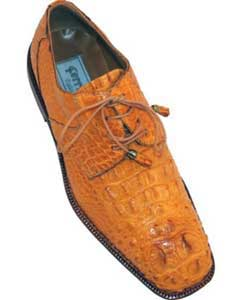 MK353 Ferrini F228 Hornback Alligator skin Derby Shoes for