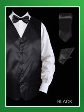 HSA01 4 Piece Vest Set (Bow Tie Neck Tie