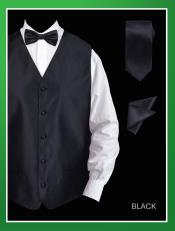 TWL2 4 Piece Vest Set (Bow Tie Neck Tie