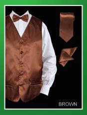 BMM9 4 Piece Vest Set (Bow Tie Neck Tie