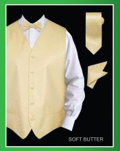 TTY31 4 Piece Vest Set (Bow Tie Neck Tie