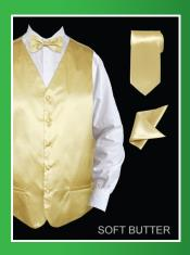 SSC33 4 Piece Vest Set (Bow Tie Neck Tie