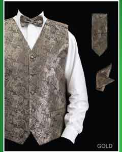 KJG2 4 Piece Vest Set (Bow Tie Neck Tie