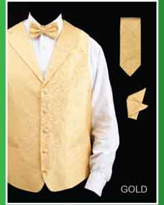 HQF8 4 Piece Vest Set (Bow Tie Neck Tie