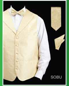 SBU24 4 Piece Vest Set (Bow Tie Neck Tie
