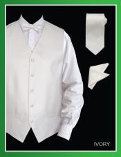 IVV50 4 Piece Vest Set (Bow Tie Neck Tie
