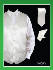IVM9 4 Piece Vest Set (Bow Tie Neck Tie