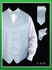KKT29 4 Piece Vest Set (Bow Tie Neck Tie