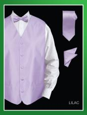 LKO84 4 Piece Vest Set (Bow Tie Neck Tie