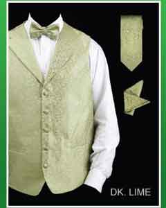 GW82 4 Piece Vest Set (Bow Tie Neck Tie