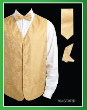 RYU33 4 Piece Vest Set (Bow Tie Neck Tie