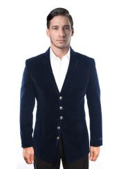 JSM-6645 Mens 5 Button Velvet Single Breasted Notch Lapel