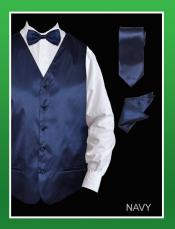 LPA99 4 Piece Vest Set (Bow Tie Neck Tie