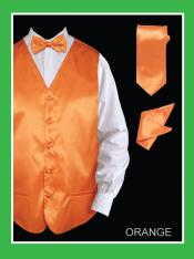 BORR55 4 Piece Vest Set (Bow Tie Neck Tie