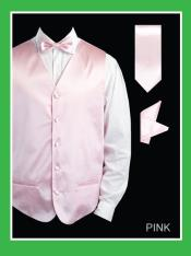 PNN88 4 Piece Vest Set (Bow Tie Neck Tie