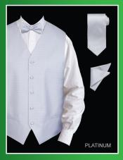 PLP009 4 Piece Vest Set (Bow Tie Neck Tie