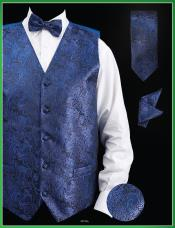 UJA9 4 Piece Vest Set (Bow Tie Neck Tie