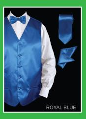 TYY88 4 Piece Vest Set (Bow Tie Neck Tie