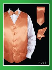 RUS90 4 Piece Vest Set (Bow Tie Neck Tie