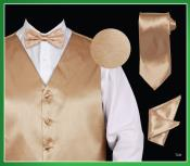 TNN66 4 Piece Vest Set (Bow Tie Neck Tie