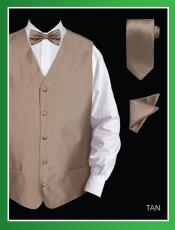 JJD7 4 Piece Vest Set (Bow Tie Neck Tie