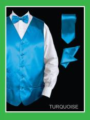 YTY93 4 Piece Vest Set (Bow Tie Neck Tie