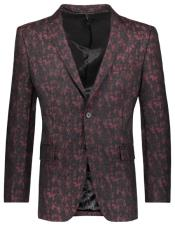mens Floral Pattern Slim Fit