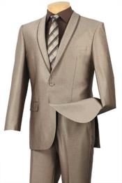 BC-67 Shawl Collar Trimmed No Pleated Slacks Pants Tuxedo