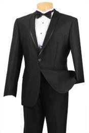 BC-68 Shawl Collar Trimmed No Pleated Slacks Pants Tuxedo