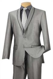 BC-69 Shawl Collar Trimmed No Pleated Slacks Pants Tuxedo