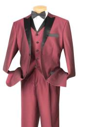 BC-59 Tuxedo & Formal Wine Three Piece Fashion Suit