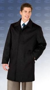 "Car coat 35"" Liquid Jet Black four button fly"