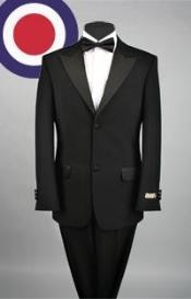 Button Style peak lapel 1920s tuxedo style Pleated Slacks