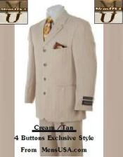JK-9 4 Button Style Cream / Tan khaki Color
