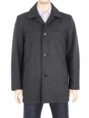 Mens 4 Button Charcoal Gray