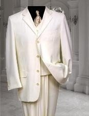 T6PC Ivory ~Cream~OFF White Tuxedod 4 Button Style Vested