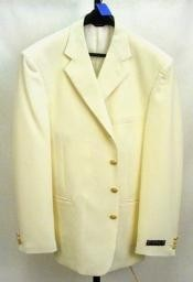 3/4 Button Style Off White~Ivory