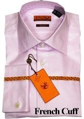 KG722 Shirt Lavender Twill French Cuff 61102-4
