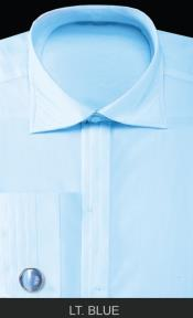ANK9 French Cuff Dress Shirt with Cuff Links -