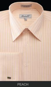 PVM81 French Cuff Dress Shirt - Herringbone Tweed Stripe