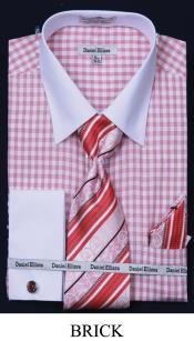 7P7B French Cuff Dress Shirt - Two Tone Stripe