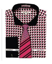 Mens Pink Corner Pattern French