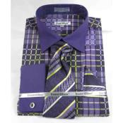 Violet Checker Dress Shirt