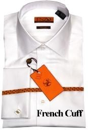 LK411 Shirt White Twill French Cuff