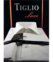 SD339  Tiglio White Luxe Mens Solid Cotton Classic